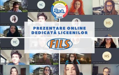 Prezentare online dedicată liceenilor – FILS