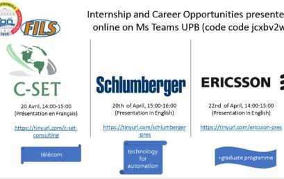 Prezentări de Career opportunities organizate de FILS